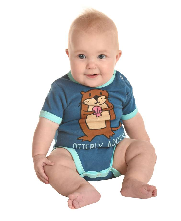 Otterly Exhausted Infant Creeper Onesie