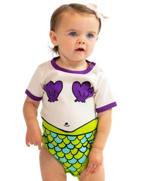 Mermaid Infant Creeper Onesie