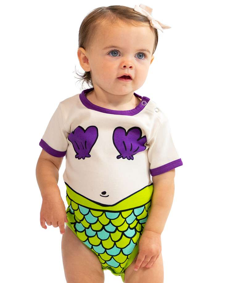 Mermaid Infant Creeper Onesie