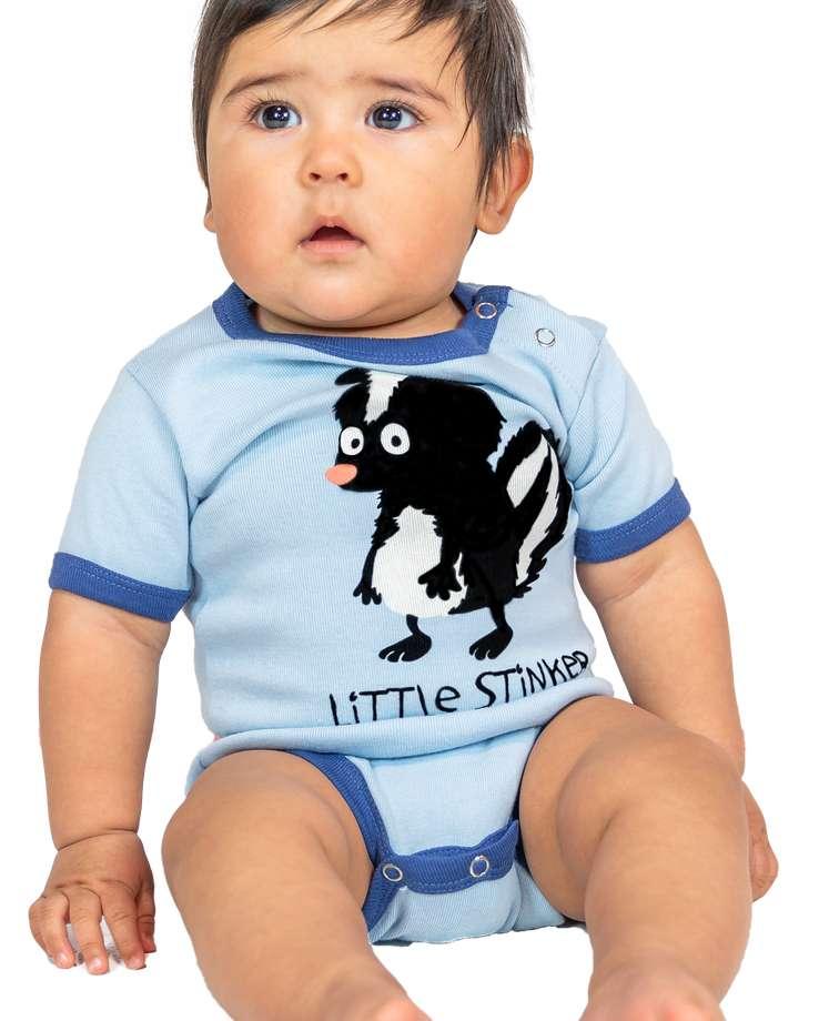 Little Stinker Blue Skunk Infant Creeper Onesie