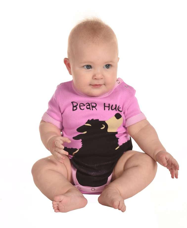 Bear Hug Pink Infant Creeper Onesie (C)