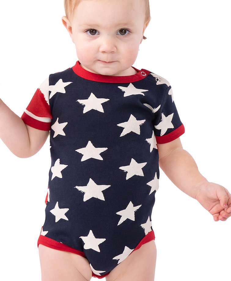 Stars & Stripes Infant Creeper Onesie