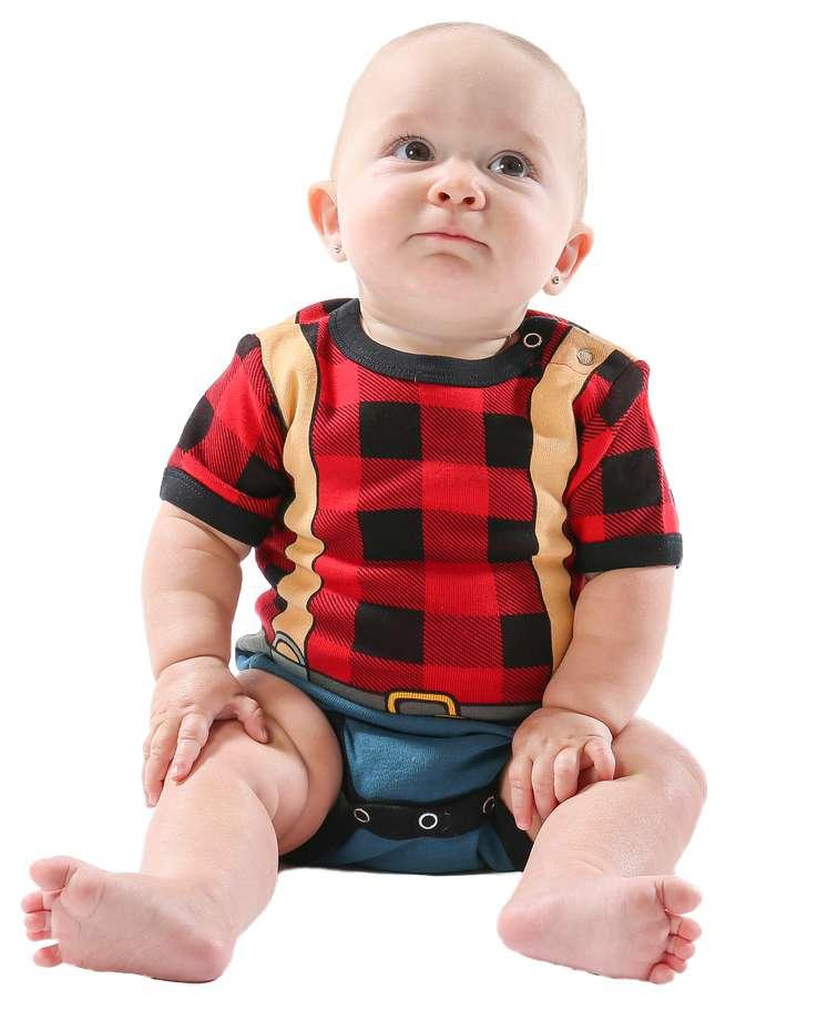 Lumberjack Infant Creeper Onesie