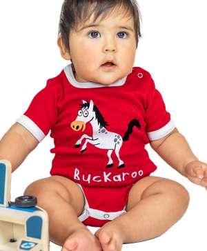 Buckaroo Horse Infant Creeper Onesie