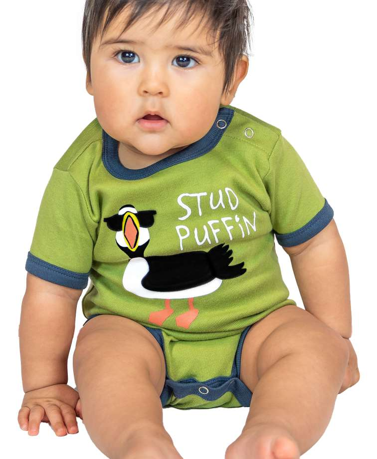 Stud Puffin Infant Creeper Onesie - Clearance