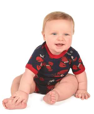 Butter Me Up Blue Lobster Infant Creeper Onesie