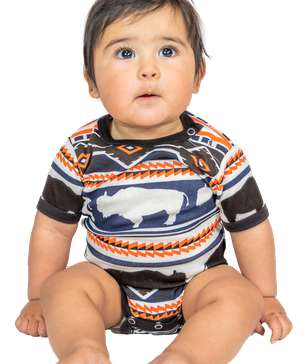 Buffalo Fair Isle Infant Creeper Onesie