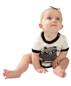 Little Rascal Raccoon Infant Creeper Onesie