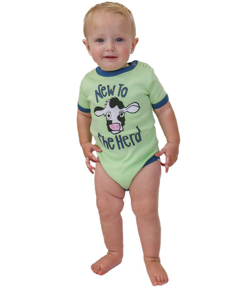 New To The Herd Cow Infant Creeper Onesie