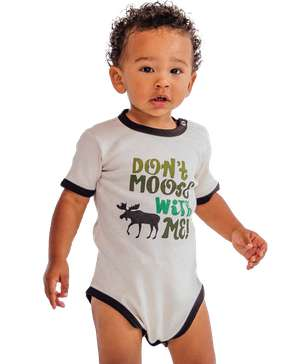 Don't Moose with Me Green Infant Creeper Onesie
