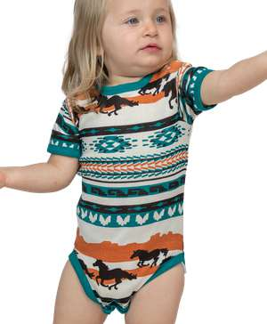 Chase Your Dreams Horse Infant Creeper Onesie