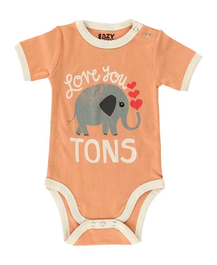 Love You Tons Elephant Infant Creeper Onesie