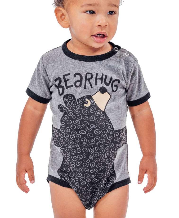 Bear Hug Grey Infant Creeper Onesie