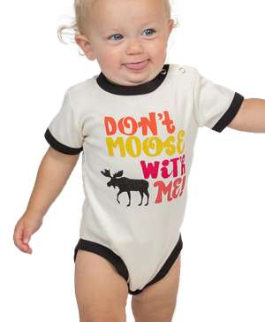 Don't Moose With Me Pink Infant Creeper Onesie