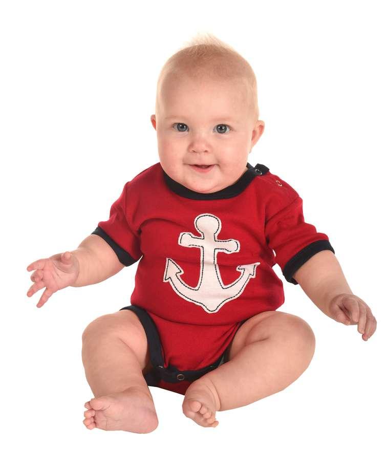 Drifting Off Infant Anchor Creeper Onesie