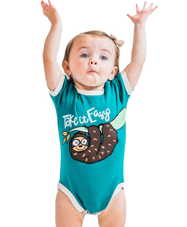 Take It Easy Sloth Infant Creeper Onesie