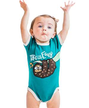 Take It Easy Sloth Infant Creeper Onesie
