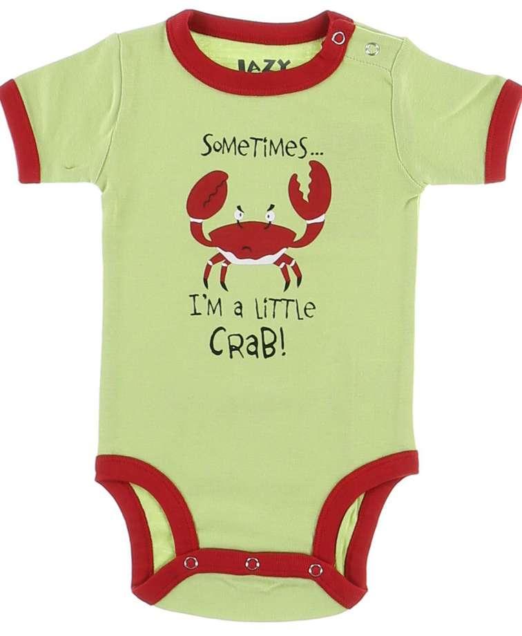 I'm a Little Crab Green Infant Creeper Onesie
