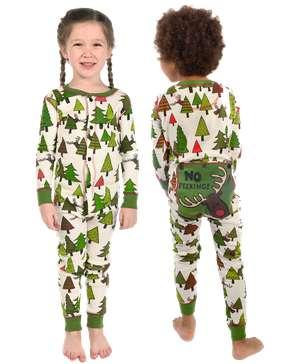 No Peeking! Kid Reindeer Onesie Flapjack