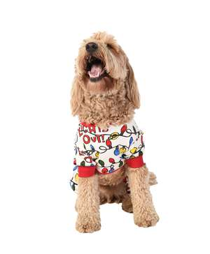 Lights Out Dog Onesie Christmas Flapjack