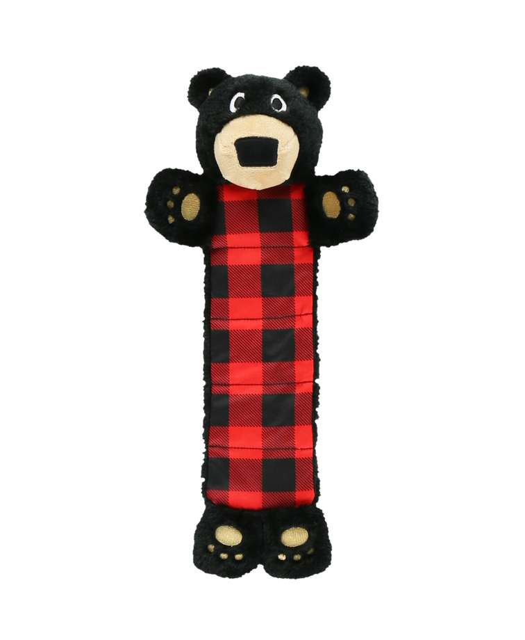 Plaid Bear Dog Toy
