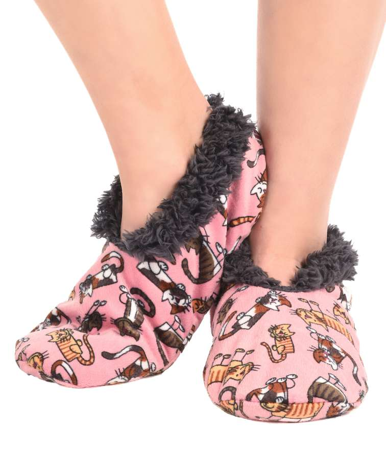 Cat Nap Cat Fuzzy Feet Slipper