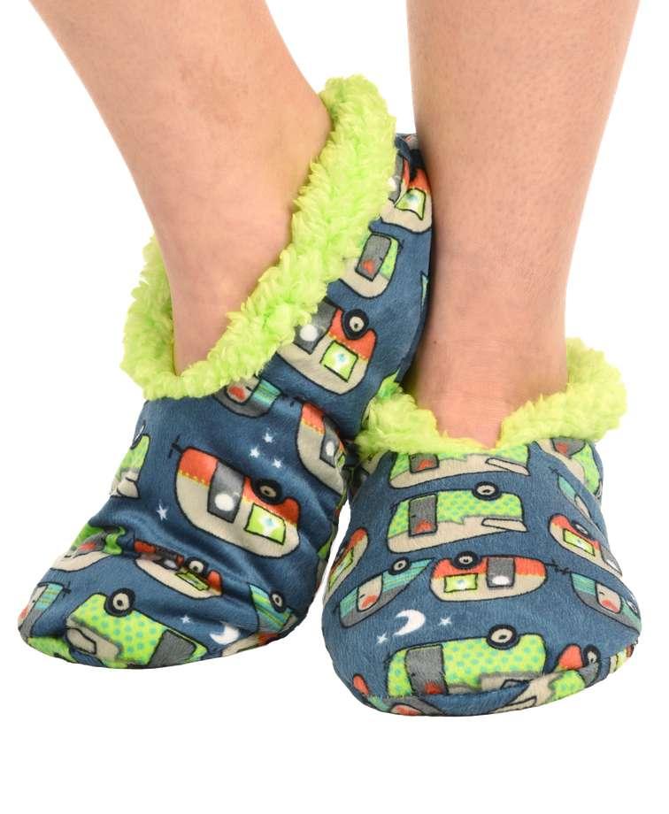 Night Out Camper Fuzzy Feet Slipper