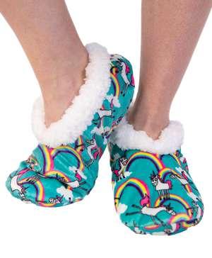 Unicorn Fuzzy Feet Slipper