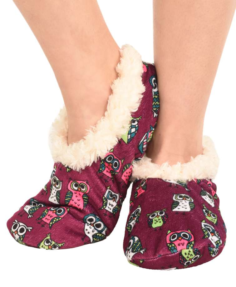 Night Owl Fuzzy Feet Slipper