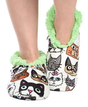 Catitude Cat Fuzzy Feet Slipper
