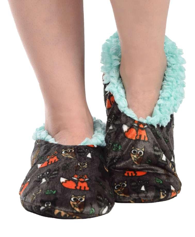 Born Wild Woodland Fuzzy Feet Slipper