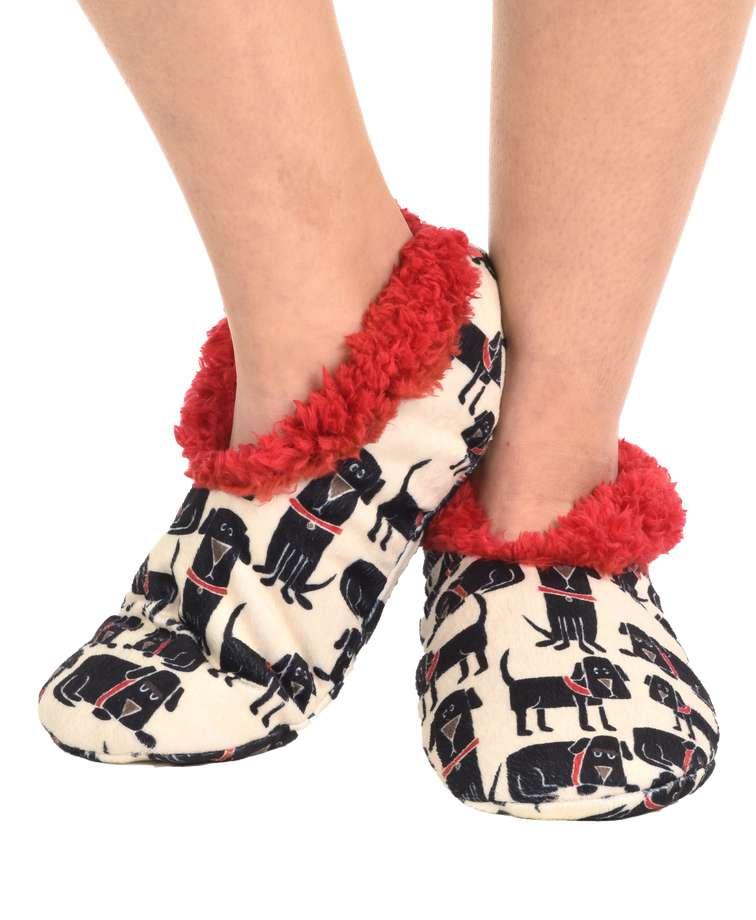Ruff Night Dog Fuzzy Feet Slipper