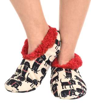 Ruff Night Dog Fuzzy Feet Slipper