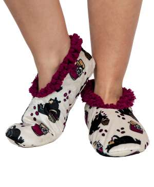 Huckleberry Bear Fuzzy Feet Slipper