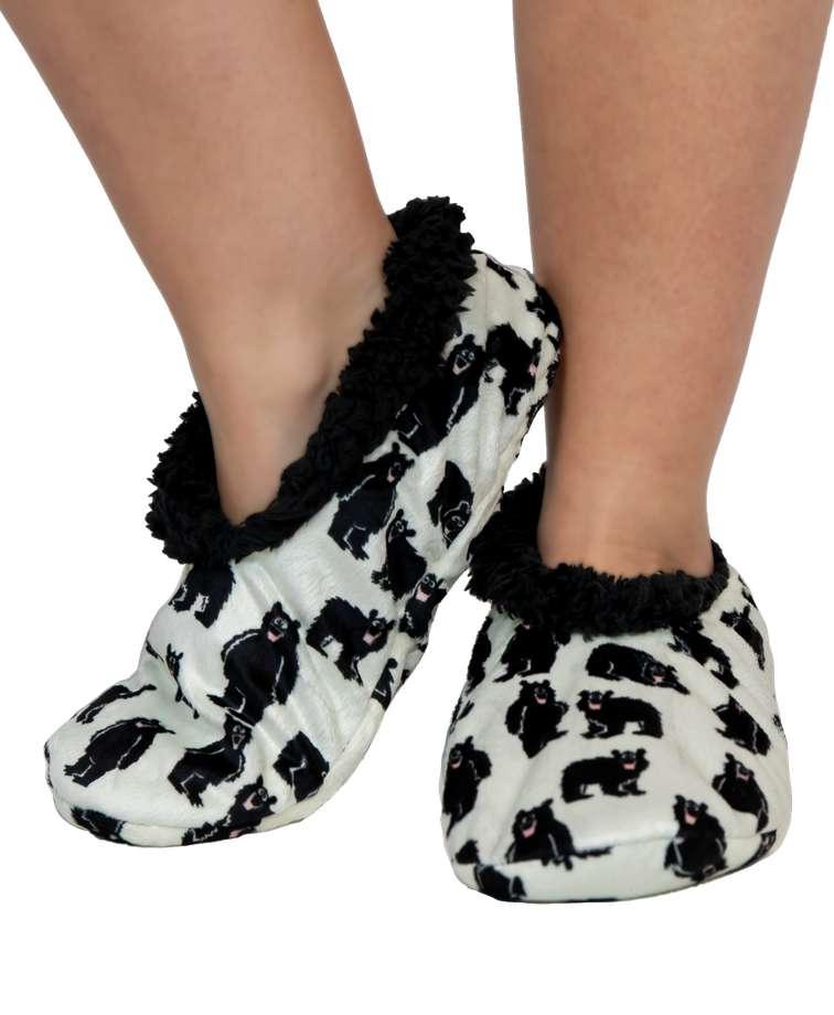 Family Bear Fuzzy Feet Slipper