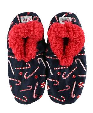 Candy Cane Fuzzy Feet Slipper