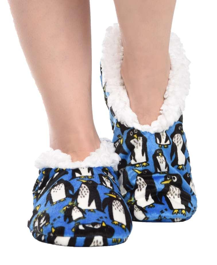 Penguin Fuzzy Feet Slipper