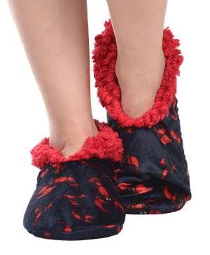 Lobster Fuzzy Feet Slipper