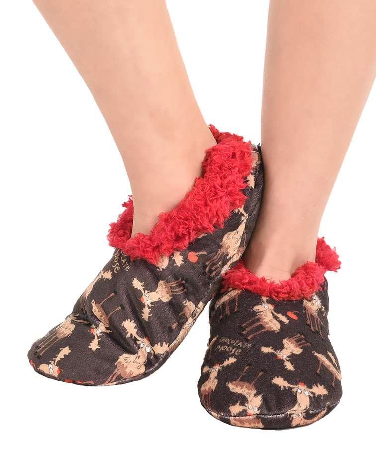 Chocolate Moose Fuzzy Feet Slipper