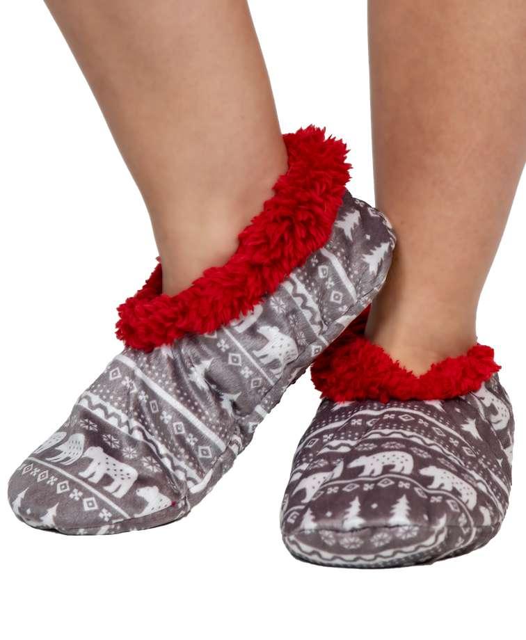 Nordic Bear Fuzzy Feet Slipper