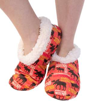 Don't Moose With Me Moose Fuzzy Feet Slipper