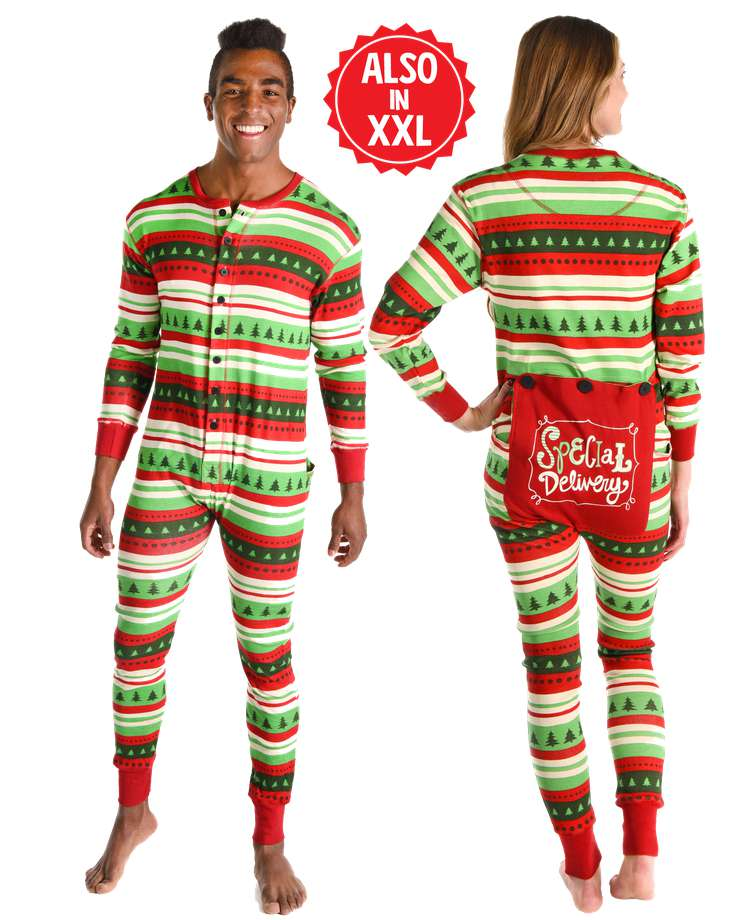 Special Delivery Adult Christmas Onesie Flapjack