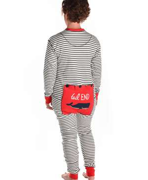 Whale Tail End Adult Onesie Flapjack