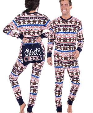 Sweet Cheeks Adult Christmas Onesie Flapjack