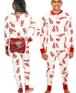 Trap Door Adult Lobster Onesie Flapjack