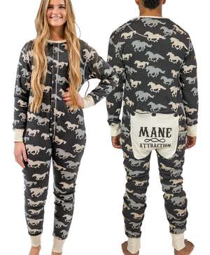 Mane Attraction Adult Horse Onesie Flapjack