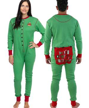Don't Open Til Christmas Adult Onesie Flapjack