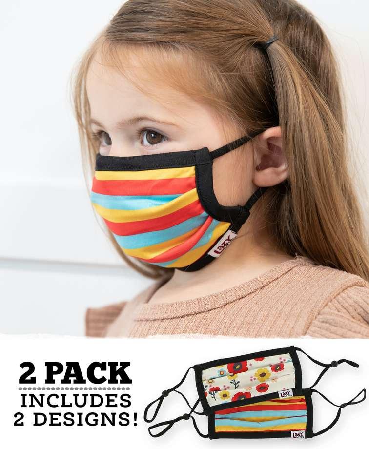 Flower Kid Face Mask 2-Pack