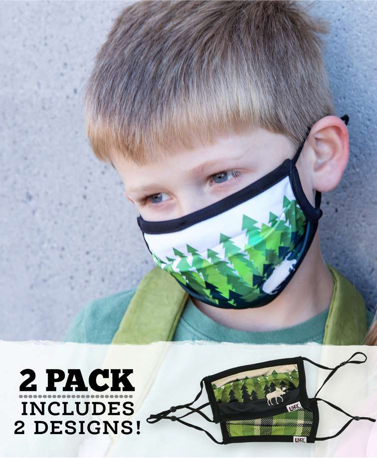 Forest Kid Face Mask 2-Pack