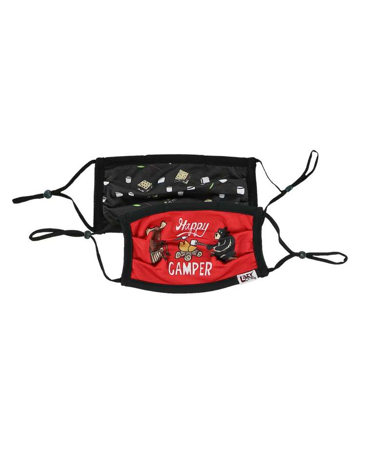 Happy Camper Kid Face Mask 2-Pack